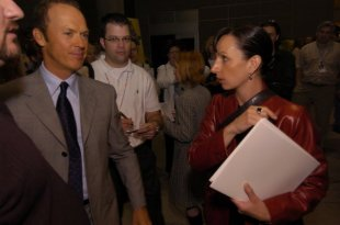 Working with Michael Keaton at the Brightlight Pictures showreel presentation in Vancouver, BC.